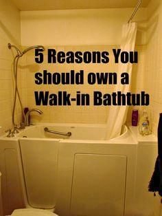 Home Maid Simple: 5 Awesome Reasons to own a Walk-In Bath Sunken Bathtub, Jacuzzi Bathtub, Bathtub Shower, Bathtubs, Ada Bathroom, Simple Bathroom, Bathroom Ideas, Bathtub Ideas, Bathroom Remodeling