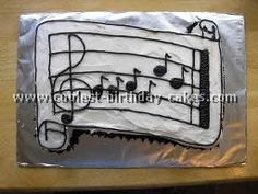 Sheet music cake. I think I will make this for my music pastor @Amy Argo