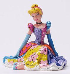 Cinderella - Cinderella Sitting - Britto - Romero Britto - World-Wide-Art.com - $45.00 #Disney #Britto #Cinderella #Princess