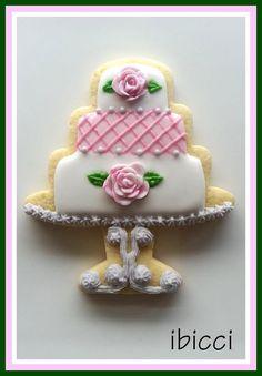Just a pretty cake Wedding Cake Cookies, Cookie Cake Birthday, Cookie Cake Pie, Sugar Cookie Icing, Cookie Frosting, Sugar Cookies, Bride Cupcakes, Edible Cookies, Cupcake Cookies