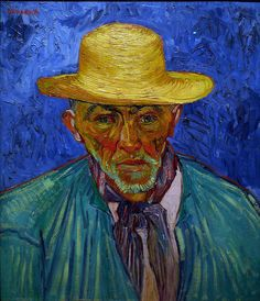 """""""Behind the head, instead of painting the ordinary wall of the mediocre room, I paint infinity, a plain background of the richest, most intense blue I can conceive, and by this single combination of the bright head against the rich blue background, I get a mysterious effect, like a star in the depths of an azure sky.""""- Van Gogh"""