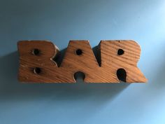 Vintage wooden BAR sign and candlestick holder. Great tiki bar or basement bar decor in medium wood.Measures long and tall and wide. Candlestick holes on the top are approx in diameter (fit standard sized candles). Vintage Lamps, Vintage Wood, Vintage Kitchen, Candlestick Holders, Candlesticks, Tiki Bar Decor, Art Deco Table Lamps, Retro Campers, Vintage Fisher Price