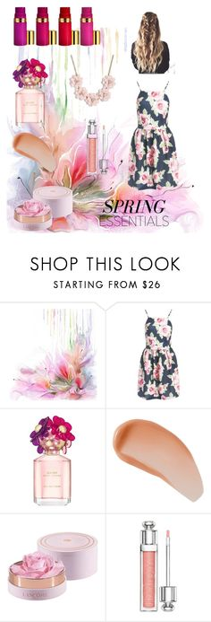 """""""Spring the birth of peace"""" by badass-gothybiatch ❤ liked on Polyvore featuring beauty, Sans Souci, Marc Jacobs, Avène, Christian Dior and J.Crew"""