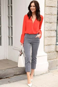 57 Stylish Spring Work Outfits To A Career-Girl Look - Bafbouf Elegant Summer Outfits, Spring Work Outfits, Casual Work Outfits, Work Attire, Work Casual, Office Outfits, Casual Office, Stylish Outfits, Outfit Work