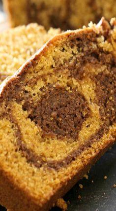 Nutella Swirl Pumpkin Bread