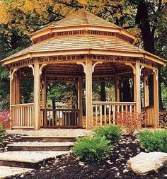 This is just a nice size gazebo with a lovely garden. Perhaps Mrs. Renfield has been working on the garden that very day to make it more lovely.