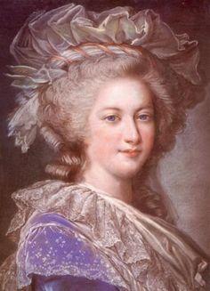 Marie Antoinette by Elisabeth Vigee LeBrun.