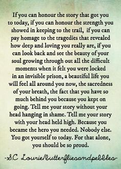 Honor Your Story...YOU are the Hero you needed!