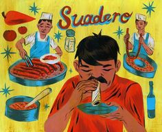 """Mexican illustrator Charles Glaubitz created these illustrations, which were inspired by Mexican hand painted signs and one of Mexico's most know and traditional dishes """"taco""""."""