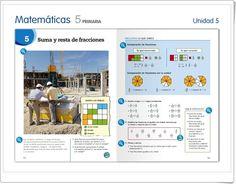 """Unidad 5 de Matemáticas de 5º de Primaria: """"Suma y resta de fracciones"""" Sumo, Interactive Activities, Addition And Subtraction, Unity, United States, Notes"""