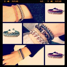 Antique brass friendship bracelets