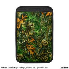 Natural Camouflage - Twigs, Leaves and Pinecones MacBook Air Sleeves