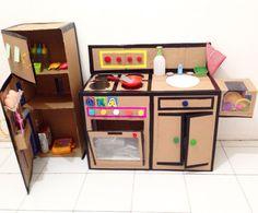 DIY kitchen set from cardboard