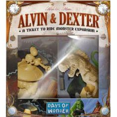 Meet Alvin & Dexter - two detailed monster figures that bring their own special brand of chaos to cities across the Ticket to Ride landscape. Alvin (the Alien) and Dexter (the Dinosaur) are two wacky characters ready to help you stomp opponents and zap tickets in this fun expansion. But don't take them too lightly; they also introduce a devious new tactical layer to the game. The last two players to start get to place the monsters in different cities on any Ticket to Ride map. It doesn't ...