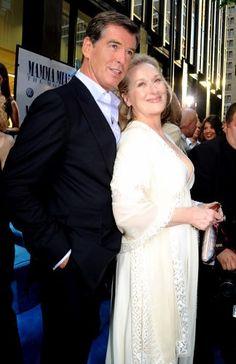 Meryl Streep ✾ at Mamma Mia premiere Mamma Mia, Pierce Brosnan, Meryl Streep, Emma Thompson, Richard Gere, Amanda Seyfried, Oscar, Sophia Loren, Famous Celebrities