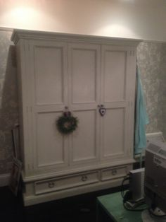 Farrow And Ball Painted Pine 2 Door Double Wardrobe With