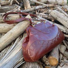 Borsa in pelle 70s color marrone cognac di strawbagsfields4ever, €50.00