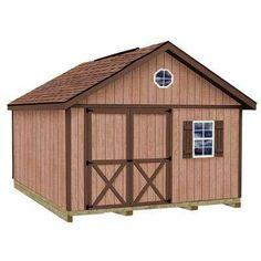 EZ Fit 10 X 12 Heritage Wood Storage Shed Kit With Floor | Wood Storage,  Storage And Backyard