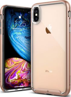 Caseology for iPhone Xs Max Case  Waterfall Series  - Slim Clear  Transparent Protective Shock Absorbing Air Space Technology Design Case for  iPhone Xs Max - ... 7ca5db02b5