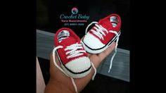 All Star de Crochê - Tamanho 09 cm - Crochet Baby Yara Nascimento PARTE 01