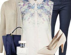 Businessoutfit ♥ Hier kaufen: http://www.stylefruits.de/businessoutfit-romance/o2916792 #Bluse #business #elegant