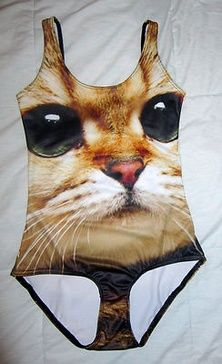 "As a future cat lady, I need this.   Black ""Meow"" Swimsuit. This totally would be good for my friend becky lol!"
