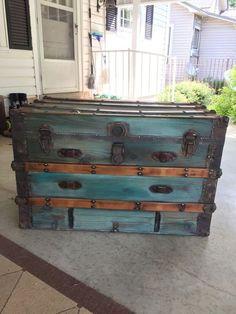 Image result for refinished steamer trunks