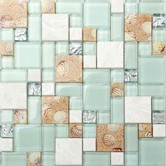 Mosaic Wall, Mosaic Tiles, Wall Tiles, Cement Tiles, Stone Mosaic, Mosaic Glass, Stone Tiles, Beach Cottage Style, Beach House