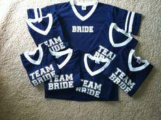 Team Bride Custom Bridal Party Jersey T-shirts