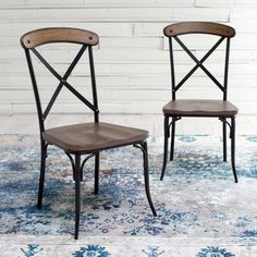 Homelegance Industrial Dining Chairs - Set of 2 - 5099S(3A)(2PC)