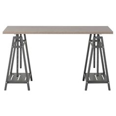 Homestar Adjustable Height Desk - Reclaimed Wood