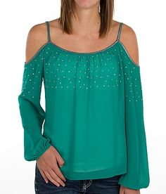 """Daytrip Cold Shoulder Top"" www.buckle.com"