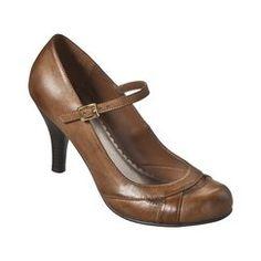 Brown strap heels
