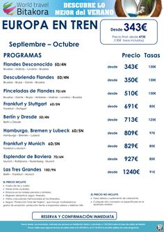 Seleccion EUROPA en TREN. Septiembre y Octubre desde 343€ + tasas ultimo minuto - http://zocotours.com/seleccion-europa-en-tren-septiembre-y-octubre-desde-343e-tasas-ultimo-minuto/