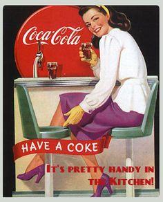 Coca cola pin up Coca Cola Poster, Coca Cola Ad, Always Coca Cola, World Of Coca Cola, Pepsi, Coca Cola Vintage, Old Posters, Vintage Posters, Funny Posters