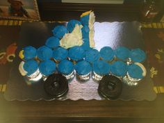 except more people thought it looked like a sailboat Baby Boy Cupcakes, Cupcakes For Boys, Truck Cupcakes, Cupcake Cakes, Sailboat, Baby Boy Shower, Cake Ideas, Things To Think About, Birthday