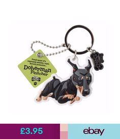 Plaques & Signs Doberman Pinscher 3D Key Ring Bag Charm Tag Dog Lovers Gift Stocking Filler #ebay #Home & Garden