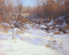 Little Nook of Light and Shadow by Barbara Jaenicke Oil ~ 11 x 14 Oil Painting Tips, Oil Paintings, Winter Pastels, Large Scale Art, Winter Painting, New Artists, Light And Shadow, Beautiful Paintings, Fine Art