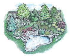 Eplans Landscape Plan - Family Can Enjoy from Eplans - House Plan Code HWEPL11599