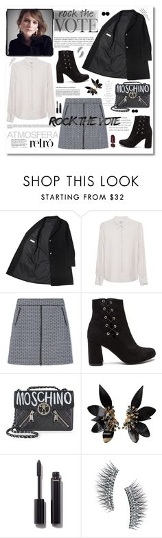 """Rock the Vote in Style"" by cindy88 ❤ liked on Polyvore featuring Frame Denim, Tory Burch, Moschino, Marni, Chanel, Kre-at Beauty and rockthevote"