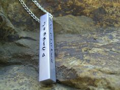 Hand Stamped Bar Necklace  Mother Grandmother by KottageKreations, $26.00
