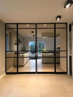 Minimal House Design, Minimal Home, Contemporary Interior Design, Interior Design Living Room, Glass Partition Designs, Wc Decoration, Sliding Door Design, House Extension Design, House Windows