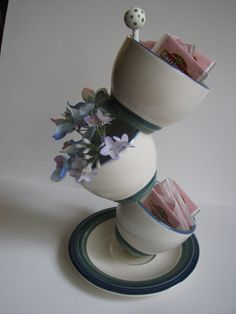 Tipsy Tea Cup planter/container