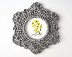 Round Ornate Crochet Picture Frame Pattern by JaKiGu - PDF Instructions