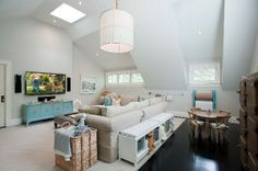 Don't like the style at all but I like how it blends Play room/ family room