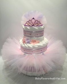Ballerina Tutu Diaper Cake - Choice of Colors - Great gift or centerpiece for Baby Shower Baby Shower Crafts, Girl Baby Shower Decorations, Unique Baby Shower Gifts, Baby Shower Centerpieces, Baby Shower Parties, Baby Shower Themes, Ballerina Tutu, Ballerina Baby Showers, Baby Shower Princess