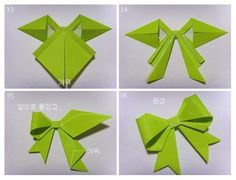 Origami gift bows.