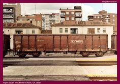 Meijo Ferroviario, el ferrocarril en Salamanca y el lejano oeste español: Los vagones de mercancías abiertos de bordes altos...