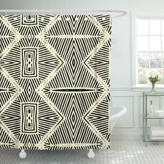 Purchase Tribal African Pattern Seamlessly Tiling Fills Africa Exotic Shower Curtain inches from Andrea Marcias on OpenSky. African Tribal Patterns, Tribal African, African Prints, Tribal Decor, Tribal Art, Art Patterns, Pattern Art, Furniture Inspiration, Interior Inspiration