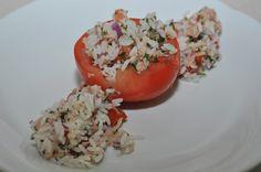Gevulde tomaten met tonijn en rijst